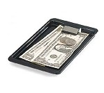 "302003 Carlisle - Check Holder/Tip Tray, 4-3/8"" x 7-3/4"", styrene, black, NSF."