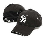 H064BK Chef Revival - Black Chef's Baseball Cap (24 per case)