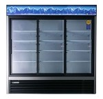 EMGR69 Everest Refrigeration - Refrigerator, Reach-In Glass Door Merchandiser, three-section, 6