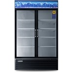 EMSGR33 Everest Refrigeration - Refrigerator, Reach-In Glass Door Merchandiser, two-section, 33