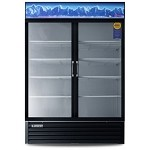 EMSGR48 Everest Refrigeration - Refrigerator, Reach-In Glass Door Merchandiser, two-section, 48