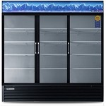 EMSGR69 Everest Refrigeration - Refrigerator Merchandiser, reach-in, three-section, 69 cu. ft. c