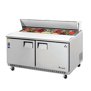EPBNWR2 Everest - Sandwich Prep Table, two-section, 15 cu. ft. cap.