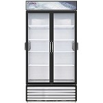 Everest EMSGR33C - Reach-In Refrigerator, 2-section, 34.65 cu.ft, (2) glass swing doors