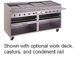 "F-72R Bakers Pride - Charbroiler, gas, 72""W floor model, 69""W x 24""D broiler area, s/"