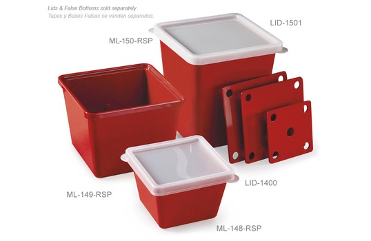 ML-150-RSP G.E.T. Enterprises - Salad Crock, red sensation, 3qt., square, melamine (Sold 6 per c