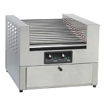 8424 Gold Medal - Lil` Diggity Hot Dog Roller Grill with Bun Warming Cabinet