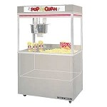 2860EDN Gold Medal - Grand Pop-O-Gold Popcorn Machine with Neon Dome, 32 oz. Kettle 60 in. Cabinet