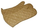 "338-10 Intedge - Teflon Oven Mitt, 10"", Beige, Heavy insulated Teflon coated, One size fits all"