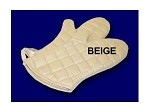 "338-13 Intedge - Teflon Oven Mitt, 13"", Beige, Heavy insulated Teflon coated, One Size Fits all"