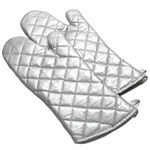 "338S13 Intedge - Silicone Oven Mitt, 13"", Silver, One size fits all, Right or left"