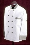 345HTX Intedge - Chef's Coat w/ Buttons, White w/ Houndstooth Trim, Larger Sizes