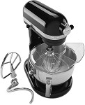 KP26M1XOB KitchenAid - Onyx Black 6 Qt. Professional 600 Series w/ Pouring Shield