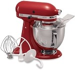 KSM150PSER KitchenAid - Empire Red 5 Qt. Artisan Series w/ Pouring Shield