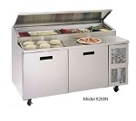 "8268N Randell - Prep Table, Refrigerated Raised Rail, 68""L, (2) 27"" doors with a"