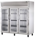 STA3R-3G True - 3 Section Refrigerator w/3 Locking Glass Doors, 9.1 amps