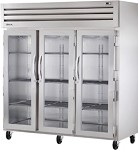 STA3RVLD-3G True - 3 Section Reach-in Refrigerator w/3 Locking Glass Doors