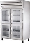 STG2RVLD-4HG True - 2 Section Glass Door Reach-in Refrigerator, 9.1 amps