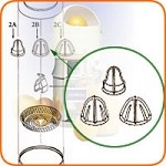 2 Sunkist - Extracting Bulb Set, with metal insert, lemon/lime