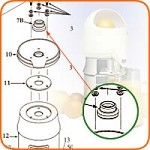 7 Sunkist - Umbrella Ring, with set screw and gasket, for Juicer (Net).  Her