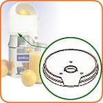 10C Sunkist - Plastic Bowl Support Only, included with part #1 bowl assembly,