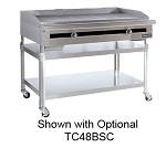 "TC24-24TGGP Therma-Tek Range  - Griddle, grooved, Gas, countertop, 24"" wide, 3/4"" thick polished"