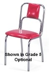 "934 Vitro Seating - Classic chair, small curved back, chrome finish. 1"" pulled seat."