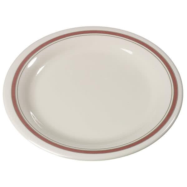Carlisle 43005906 - Durus Narrow Rim 9 Inch Dinner Plate - Bone  sc 1 st  JES Restaurant Equipment & 43005906 Carlisle - Durus Narrown Rim Dinner Plate 9 in. (while suppl