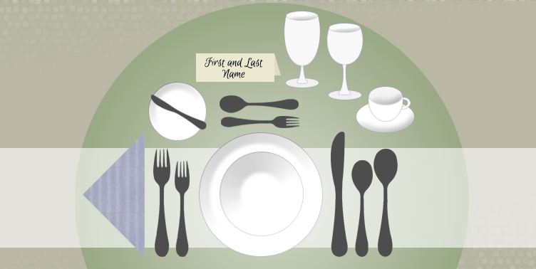 Rules Of Table Etiquette In High Society Infographic