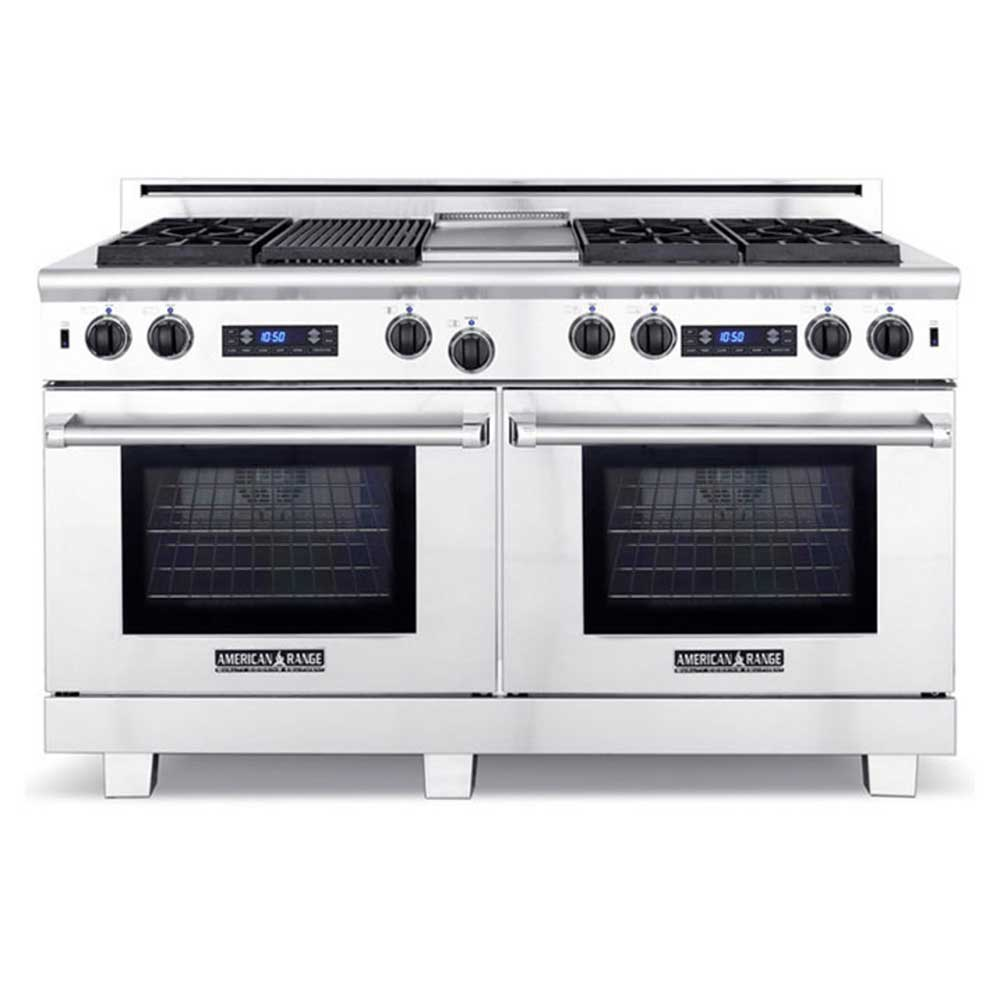 American Range ARR6062GDDFN - 6 Sealed Gas Burners with 22in Gas ...
