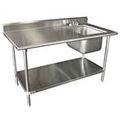Stainless Steel Tables with Sink
