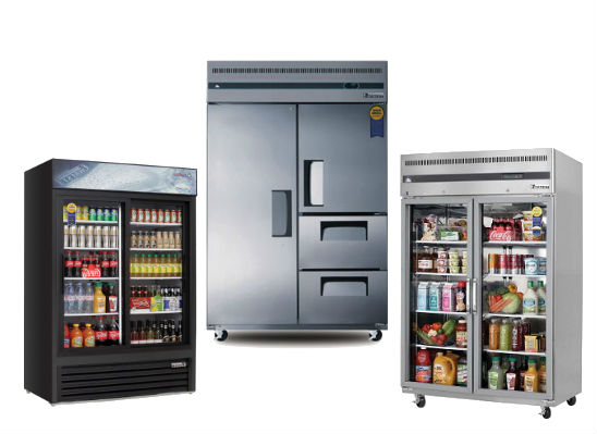 Everest Refrigeration reach-ins and merchandisers for sale