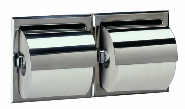 B Bobrick Washroom Surface Mounted Double Roll Toilet Tissue D - Bobrick bathroom accessories