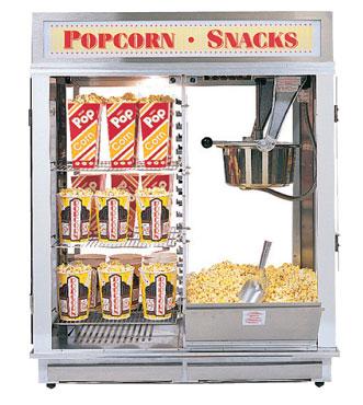 Gold Medal 1617E - Popcorn Merchandiser, 16 oz , Pop & Self-Serve