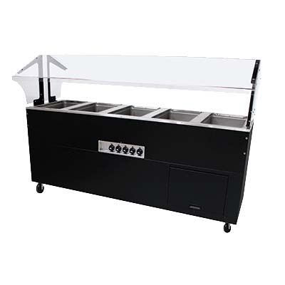 Advance tabco bsw5 240 b sb portable hot food buffet table for 12 inch deep buffet table