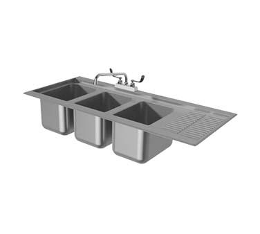 Incroyable Advance Tabco DBS 43L   Bar Sink, Drop In, 48 5