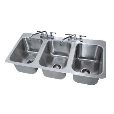 DI-3-10 Advance Tabco - Drop-In Sink, 3 compartment, 10\