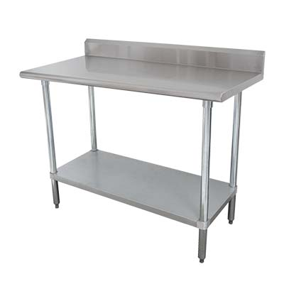 KSLAGX Advance Tabco Work Table Wide Top This Work Table - 16 gauge stainless steel work table