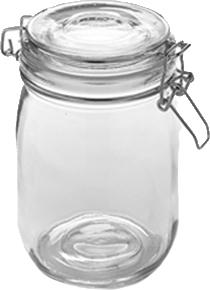 American Metalcraft Hmj6 Gl Mason Jar W Hinged Lid 35 Oz