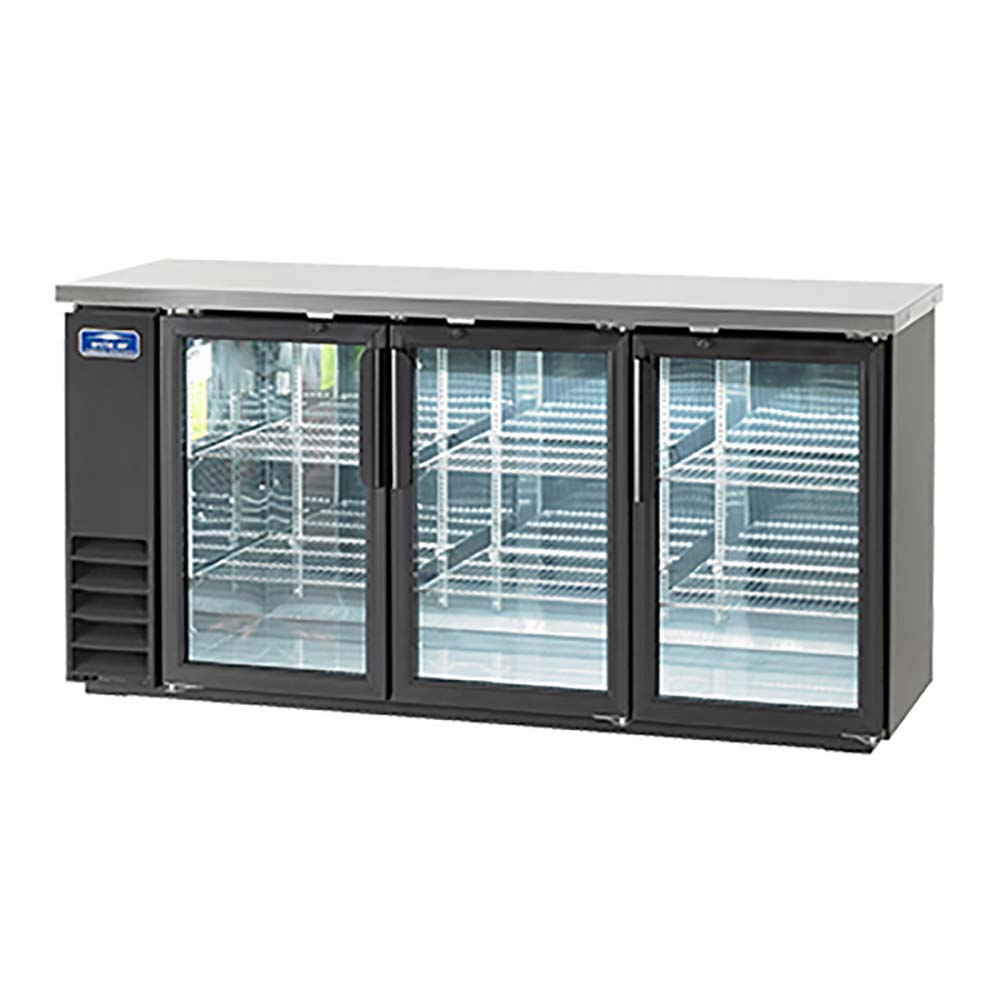 Arctic Air Abb72g Glass Door Self Contained Back Bar Refrigerated