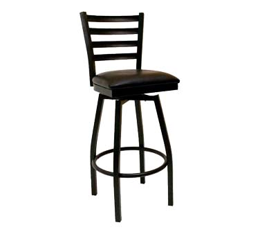 ATS Furniture 77 BSS SWS Swivel Bar Stool ladder back  : ATS77BSSBVS from www.jesrestaurantequipment.com size 1000 x 1000 jpeg 53kB