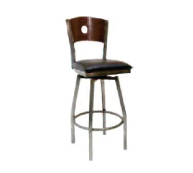 Ats Furniture 77ca Bss W Gr5 Swivel Bar Stool Wood Back W Circles Grade 5 Metal