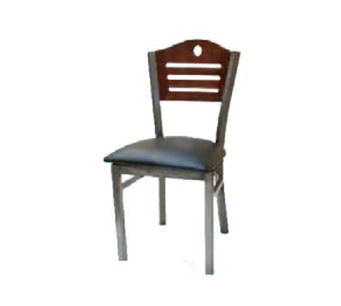 ATS Furniture 77CB DM GR4   Side Chair, Wood Back W/strips U0026