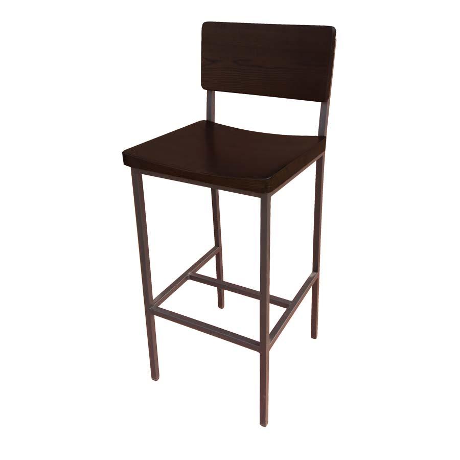 Ats Furniture 89 Bs W Sws Bar Stool Walnut Back And
