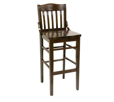 930 Bs W Sws Ats Furniture Bar Stool Slat Back Wood