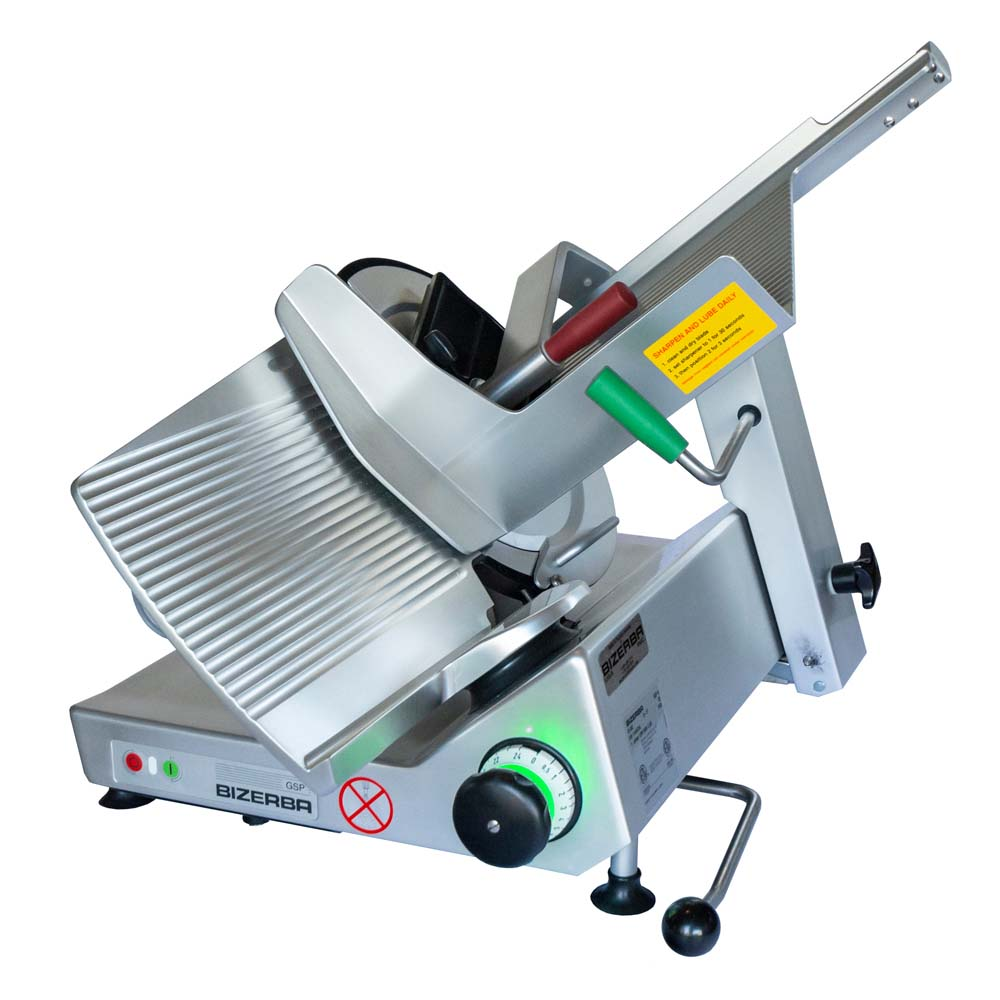 Bizerba GSP H I 90-GCB - Manual Safety Slicer, 13 inch Grooved Blade,