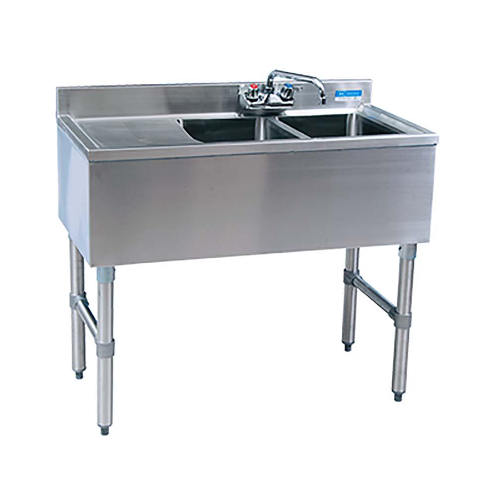 BK Resources BKUBW-236LS Two Compartment Slimline Underbar Sink ...