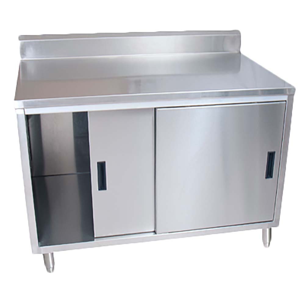 BK Resources BKDCR5 2472S   Work Table, Sliding Door Cabinet Base, 72 Inch