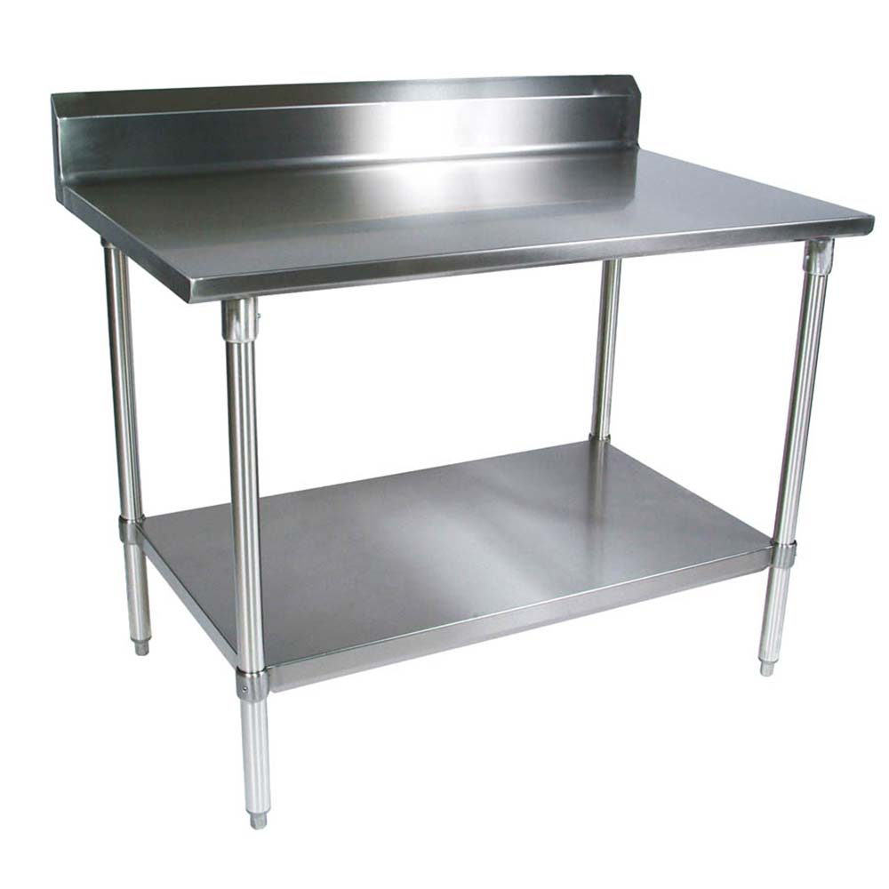 BK Resources QVTR Stainless Steel Work Table Channel - Stainless steel work table with shelves