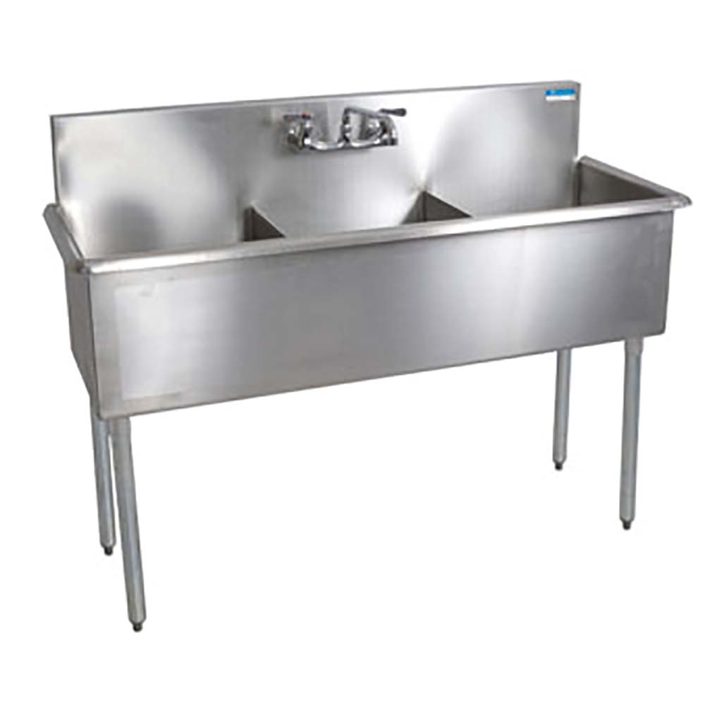 Genial BK Resources BK8BS 3 1221 12   Budget 3 Compartment Sink, 12